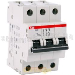 Автоматический выключатель ABB S203 C 63А 6кА 3-полюсный 2CDS253001R0634