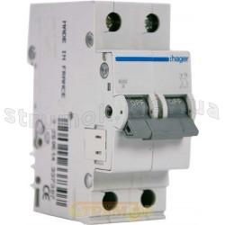 Автоматический выключатель Hager MB220A 20А В 2p 6кА 2-полюсный