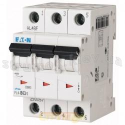 Автоматический выключатель PL-4, 3-полюсный C-20A 4,5кА 293161 Eaton (Moeller)