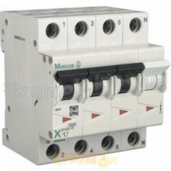 Автоматический выключатель PL7-С63/3N 3+N 10кА 4-полюсный Eaton (Moeller) 264001