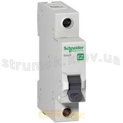 Автоматический выключатель Schneider EASY9 63А С 4,5кА EZ9F34163 1-полюсный