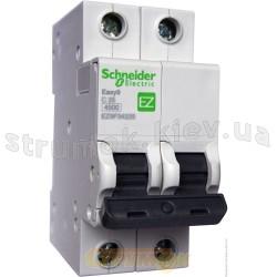 Автоматический выключатель Schneider Electric EASY 9 EZ 2P 40А С EZ9F34240 2-полюсный