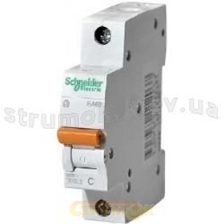 Автоматический выключатель Schneider ВА63 1п 6А С 4,5кА 11201 1-полюсный