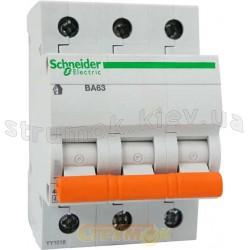 Автоматический выключатель SCHNEIDER ВА63 3п 10 А С