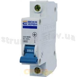 Автоматический выключатель Укрем ВА-2001 1р 2А C 6кА АсКо 1-полюсный A0010010002