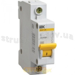 Автоматический выключатель ВА47-29М 1р 25А, 4,5кА ИЭК MVA21-1-025-C