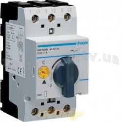 Автоматический выключатель защиты двигателя Hager MM505N 0,6-1,0 А 2,5 модуля
