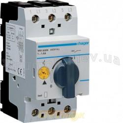 Автоматический выключатель защиты двигателя Hager MM506N 1,0-1,6 А 2,5 модуля