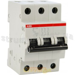 Автоматический выключатель ABB SH203 С40А 6кА 3-полюсный 2CDS253001R0404