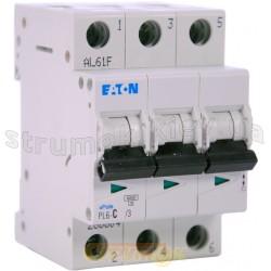 Автоматический выключатель C-25A PL-6 6кА 3-полюсный Eaton (Moeller) 286603