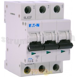 Автоматический выключатель C-50A PL-6 6кА 3-полюсный Eaton (Moeller) 286606