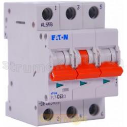 Автоматический выключатель C-63A PL-7 10kA 3-фазный Eaton (Moeller) 263415