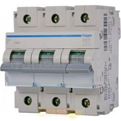Автоматический выключатель In=125А C 10кА 3-фазный HLF399S Hager