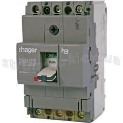 Автоматический выключатель 160А, 3-фазный, 18kA HDA160L Hager