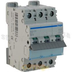 Автоматический выключатель In=16А D 10кА 3-фазный NDN316А Hager