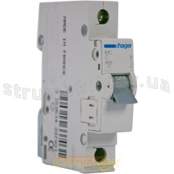 Автоматический выключатель In=25А C 6kA MC125A Hager