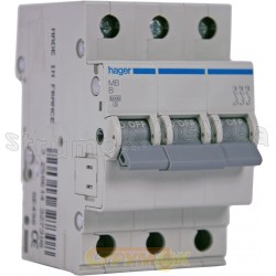 Автоматический выключатель In=6А В 6кА 3-фазный МВ306А Hager