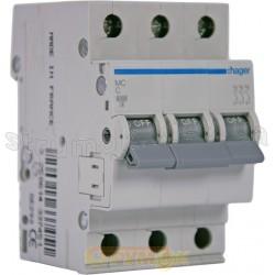 Автоматический выключатель In=6А С 6кА 3-фазный МС306А Hager