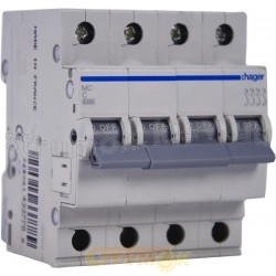 Автоматический выключатель 63А С, 4-х фазный 6кА 4мод. MС463A Hager