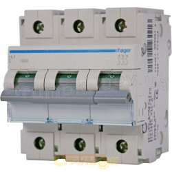 Автоматический выключатель In=80А C 10кА 3-фазный HLF380S Hager