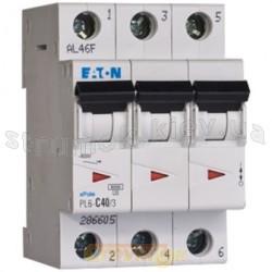 Автоматический выключатель PL-4, 3-полюсный C-25A 4,5кА 293162 Eaton (Moeller)
