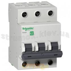 Автоматический выключатель Schneider EASY9 63А С 4,5кА EZ9F34363 3-полюсный