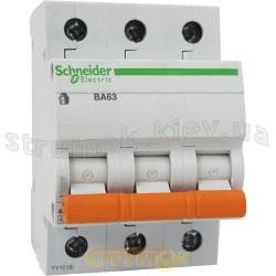 Автоматический выключатель Schneider ВА63 3п 16А С 4,5кА 11223 3-полюсный