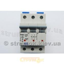 Автоматический выключатель SEZ PR 63-C 16А 10кА 3-полюсный