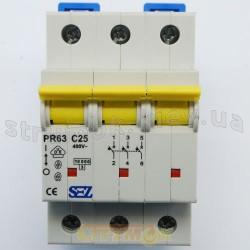 Автоматический выключатель SEZ PR 63-С 50А 10кА 3-полюсный