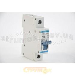 Автоматический выключатель, С ,10А, 1-п, 6кА, SIGMA 6SM110C