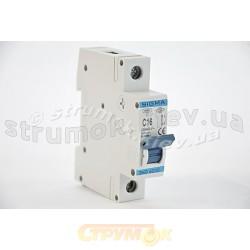 Автоматический выключатель, С ,16А, 1-п, 6кА, SIGMA 6SM116C