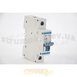 Автоматический выключатель, С ,20А, 1-п, 6кА, SIGMA 6SM120C