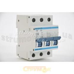 Автоматический выключатель, С ,32А, 3-п, 6кА, SIGMA 6SM332C