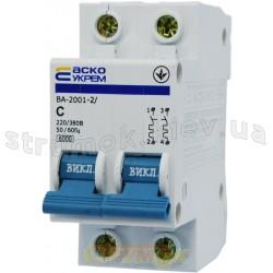 Автоматический выключатель Укрем ВА-2001 2р 10А С 4,5кА AcKo 2-полюсный A0010010028