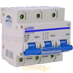 Автоматический выключатель Укрем ВА-2003 3р 100А 4,5кА D 3-полюсный A0010030004