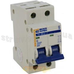 Автоматический выключатель Укрем ВА-2012 2р 10А С 6кА AcKo 2-полюсный A00101200011