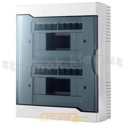 Бокс пластиковый 16 модулей накладной LEZARD 730-2000-016 с прозрачной крышкой