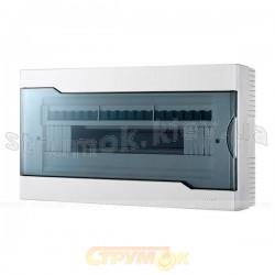 Бокс пластиковый 18 модулей накладной LEZARD 730-2000-018 с прозрачной крышкой