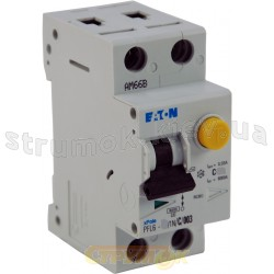Дифавтомат C 25A 30mA (0.03A) PFL6-25 / 1N+P Eaton (Moeller) 286469