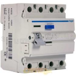 Дифференциальное реле ПЗВ 4x40А 30мА (0,03А) тип А 4 модуля CD441J Hager