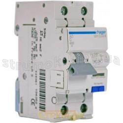 Дифференциальный автомат 1+N 40A 30мА (0,03А) C 6кА тип А 2м AD990J Hager