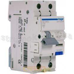 Дифференциальный автоматический выключатель 1+N 10A 30mA (0,03А) C 6кА категория А 2м AD960J Hager