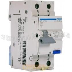 Дифавтомат 1+N 20A 30мА (0,03А) C 4,5кA тип АС 2м AD870J Hager