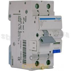 Дифавтомат 1+N 20A 30mА (0,03А) C 6кA тип A 2m AD970J Hager