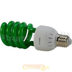 Лампа энергосберегающая DELUX ERS-02A 26W E-27 зеленая