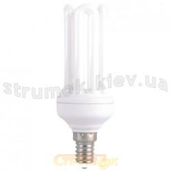Энергосберегающая лампа КЛЛ Delux Т2 4U 15Wатт 4100K Е27