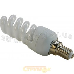 Лампа энергосберегающая МАХUS Mini spiral 15Wатт 2700K E14.