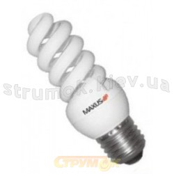 Энергосберегающая лампа КЛЛ Maxus Т2 FS 20Wатт 4100K Е-27 (2-ESL-230-01А) (Цена за 2шт+гирлянда)