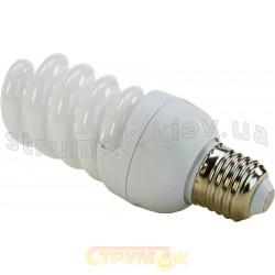 Лампа энергосберегающая 20 вт E27 spiral теплобелая КЛЛ Volta