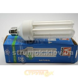 Лампа энергосберегающая 30Вт E27 4U естественная Volta